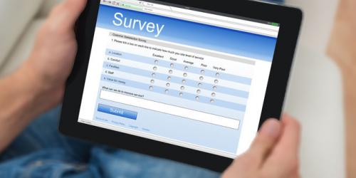 image_person looking at survey on tablet