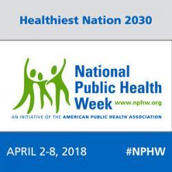 National Public Health Week 2018 logo